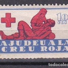 Sellos: VIÑETA DE 10 CTS DE AJUDEU A LA CREU ROJA (CRUZ ROJA- RED CROSS) NUEVO SIN CHARNELA. Lote 178218451