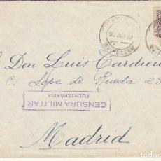 Sellos: CENSURA: FUENTERRABIA (GUIPUZCOA) A MADRID. 1939. Lote 178273105