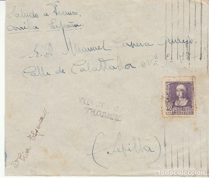 CENSURA: SELLO 858. BARCELONA A SEVILLA. (Sellos - España - Guerra Civil - Locales - Cartas)