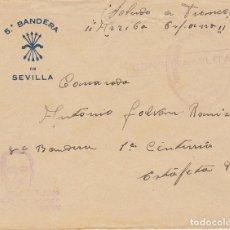 Sellos: CENSURA: 5 BANDERA DE SEVILLA A 8 BANDERA 1 CENTURIA.. Lote 178276838