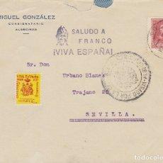 Sellos: CENSURA : ALGECIRA A SEVILLA.1938. Lote 178277937