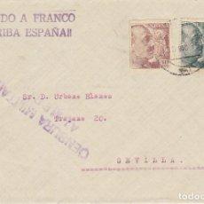 Sellos: CENSURA: ALMERIA A SEVILLA. 1939. Lote 178278048