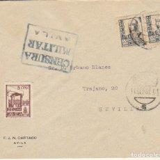 Sellos: CENSURA: AVILA A SEVILLA.1937. Lote 178278250
