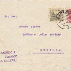 Sellos: CENSURA: BADAJOZ A SEVILLA. 1938.. Lote 178341867