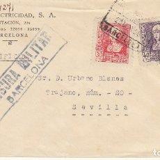 Sellos: CENSURA: BARCELONA A SEVILLA..1939.. Lote 178342643