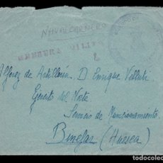 Sellos: *** CARTA NAVALCARNERO?-BINEFAR (HUESCA) 1938. EJERCITO DEL NORTE, SERVICIO MUNICIONAMIENTO ***. Lote 178372643