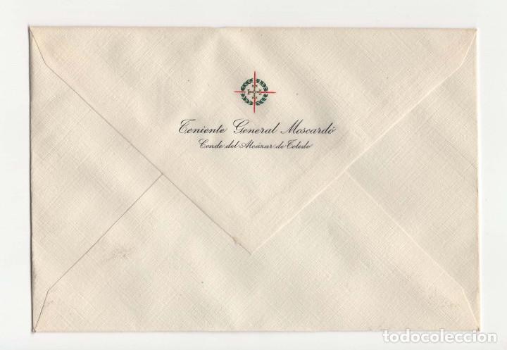 SOBRE DEL HÉROE DEL ALCÁZAR JOSÉ MOSCARDÓ. CONDE DEL ALCÁZAR DE TOLEDO. (Sellos - España - Guerra Civil - De 1.936 a 1.939 - Cartas)