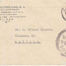 Sellos: CENSURA: BILBAO ASEVILLA.1938. Lote 178659457