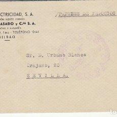 Sellos: CENSURA: BILBAO A SEVILLA. 1939.. Lote 178659941