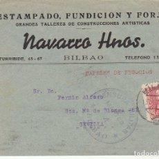 Sellos: CENSURA: BILBAO A SEVILLA. 1938. Lote 178660236