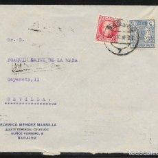 Sellos: 1936.- BADAJOZ A SEVILLA. Lote 178787593