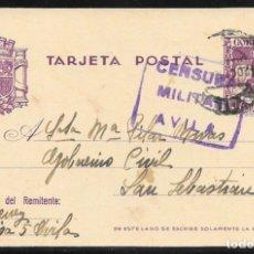 Sellos: 1938.- AVILA A SAN SEBASTIAN.. Lote 178789536