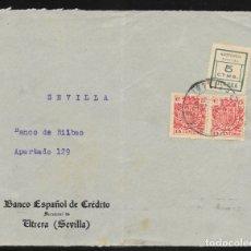 Sellos: UTRERA (SEVILLA) A SEVILLA.. Lote 178791865