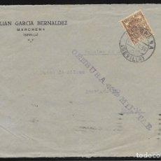Sellos: 1936.- MARCHENA (SEVILLA) A SEVILLA). Lote 178795163