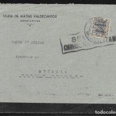 Sellos: CONSTANTINA (SEVILLA) A SEVILLA. Lote 178802217