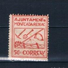 Timbres: SELLO LOCAL GUERRA CIVIL AYUNTAMIENTO MONTCADA Y REIXAC 5 CTS CORREUS * LOT011. Lote 178878790
