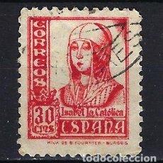 Sellos: ESPAÑA - 1937-1940 - ISABEL LA CATÓLICA - EDIFIL 823 - USADO. Lote 178906483