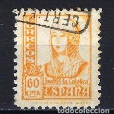 Sellos: ESPAÑA - 1937-1940 - ISABEL LA CATÓLICA - EDIFIL 826 - USADO. Lote 178906970