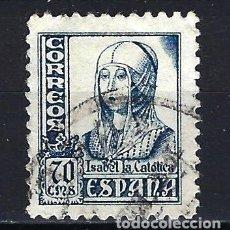 Sellos: ESPAÑA - 1937-1940 - ISABEL LA CATÓLICA - EDIFIL 827 - USADO. Lote 178907041