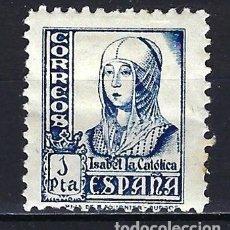 Francobolli: ESPAÑA - 1937-1940 - ISABEL LA CATÓLICA - EDIFIL 828 - MH* NUEVO CON FIJASELLOS. Lote 178907193