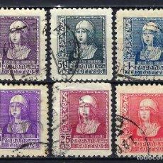 Sellos: ESPAÑA - 1938-1939 - ISABEL LA CATÓLICA - EDIFIL 855/860 - USADOS. Lote 178907637