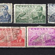 Sellos: ESPAÑA - 1939 - JUAN DE LA CIERVA - EDIFIL 880/886 - USADO. Lote 178908241