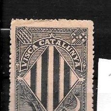 Sellos: VN4-3-1 VIÑETA NACIONALISTA SEPARATISTA VISCA CATALUNYA ANY 1900 NATHAN Nº 10 CON FIJASELLOS. Lote 178931108