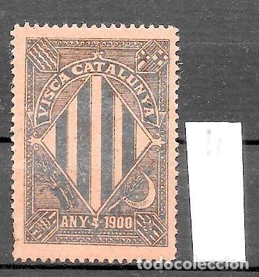 VN4-3-4 VIÑETA NACIONALISTA SEPARATISTA VISCA CATALUNYA ANY 1900 NATHAN Nº 10 (Sellos - España - Guerra Civil - Viñetas - Nuevos)