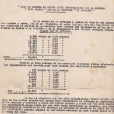 Sellos: F29-15-GUERRA CIVIL.INTERESANTE DOCUMENTO FALANGE EMISÍON LOCALES LA CAROLINA JAÉN . Lote 178946707