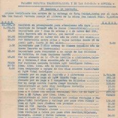 Sellos: F29-15-GUERRA CIVIL.INTERESANTE DOCUMENTO FALANGE 8 ª BANDERA. ARQUEO CUENTAS . Lote 178946818