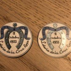 Sellos: 2 VIÑETAS CRUZ ROJA BUENA SUERTE 1933 LOTERIA RARISIMA. Lote 178982817