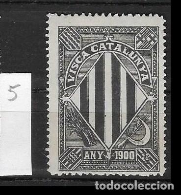 VN4-3-5 VIÑETA NACIONALISTA SEPARATISTA VISCA CATALUNYA ANY 1900 NATHAN Nº 10 (Sellos - España - Guerra Civil - Viñetas - Nuevos)