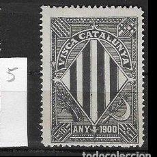Sellos: VN4-3-5 VIÑETA NACIONALISTA SEPARATISTA VISCA CATALUNYA ANY 1900 NATHAN Nº 10. Lote 178990265