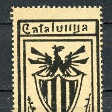 Sellos: ESPAÑA. VIÑETAS NACIONALISTAS. CATALUÑA. CATÁLOGO NATHAN TIPO 27. RR. Lote 178996387