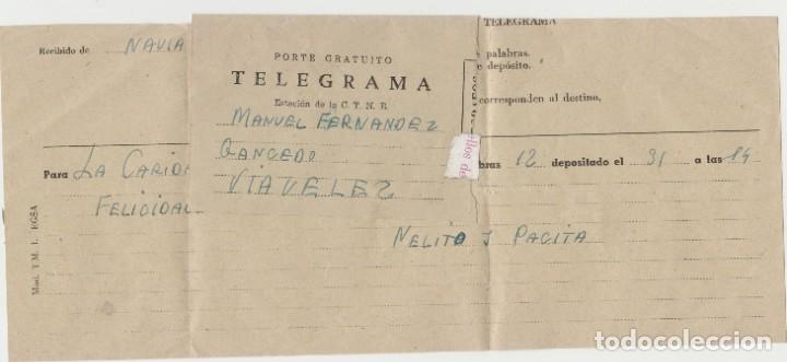 LOTE B TELEGRAMA LA CARIDAD OVIEDO MATASELLOS (Sellos - España - Guerra Civil - Locales - Usados)