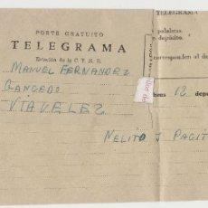 Sellos: LOTE B TELEGRAMA LA CARIDAD OVIEDO MATASELLOS. Lote 179018541