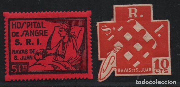 NAVAS DE SAN JUAN-- JAEN--, 5 CTS, ASISTENCIA SOCIAL Y S.R.I.-- NUEVOS, VER FOTO (Sellos - España - Guerra Civil - De 1.936 a 1.939 - Usados)