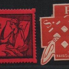 Sellos: NAVAS DE SAN JUAN-- JAEN--, 5 CTS, ASISTENCIA SOCIAL Y S.R.I.-- NUEVOS, VER FOTO. Lote 179070216