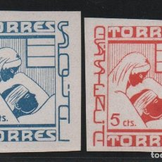 Sellos: TORRES-- JAEN-, 5 CTS, ASISTENCIA SOCIAL-- NUEVOS, VER FOTO. Lote 179070322