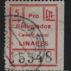 Sellos: LINARES-- JAEN-, 5 CTS, PRO REFUGIADOS-- VER FOTO. Lote 179070485