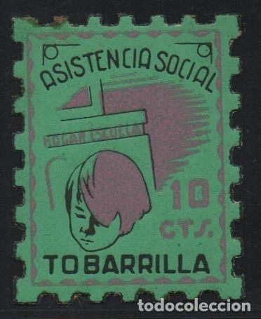 - TOBARRILLA-, 10 CTS,-- ASISTENCIA SOCIAL-- NUEVO--VER FOTO (Sellos - España - Guerra Civil - De 1.936 a 1.939 - Usados)