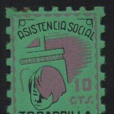 Sellos: - TOBARRILLA-, 10 CTS,-- ASISTENCIA SOCIAL-- NUEVO--VER FOTO. Lote 179070756