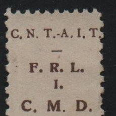 Sellos: C.N.T. - A.I.T. -CASTAÑO- F.R.L. =FDE. RG. LEVANTE- I =INDUSTRIA. C.M.D= CONSTRUCCIO MADERA Y DECO. Lote 179070937