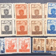 Sellos: FICHA SERIES NUEVAS BARCELONA. BLOQUES DE 4 Y DE 2. Lote 179108766