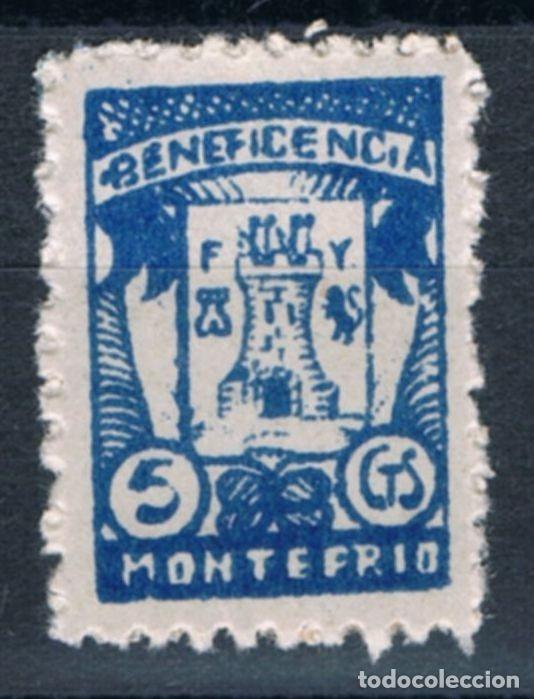 GUERRA CIVIL. SELLO LOCAL. BENEFICENCIA MONTEFRIO 5 CTS ** LOT006 (Sellos - España - Guerra Civil - Locales - Nuevos)