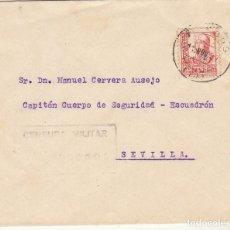 Sellos: CENSURA : BURGOS A SEVILLA. 1937. Lote 179235515