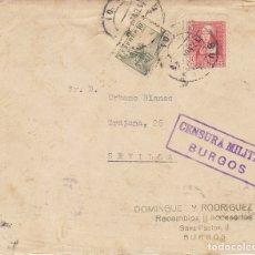 Sellos: CENSURA : BURGOS A SEVILLA. 1937. Lote 179235748