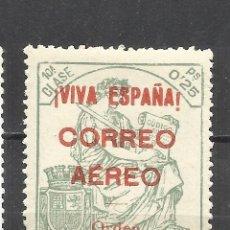 Sellos: 2796-SELLO LOCAL BURGOS GUERRA CIVIL FISCAL HABILITADO PARA USO EN CORREO AEREO SEGÚN ORDEN DE 1936.. Lote 179315508