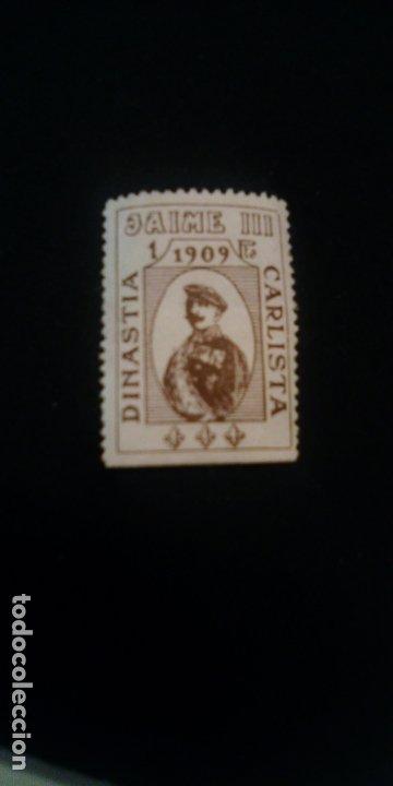 SELLO - VIÑETA CARLISTA. 1 PESETA. D. JAIME III. (CARLISMO, REQUETÉ) (Sellos - España - Guerra Civil - De 1.936 a 1.939 - Nuevos)