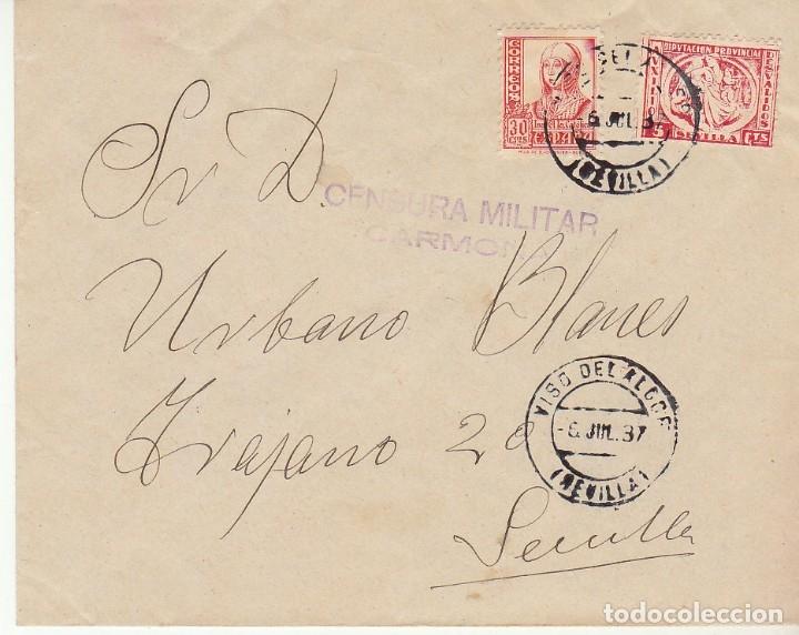 CENSURA: VISO DEL ALCOR A SEVILLA. 1837 (Sellos - España - Guerra Civil - De 1.936 a 1.939 - Cartas)
